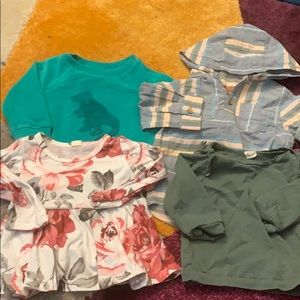 Other - Set of 4 along Sleeve Tops for 12 Month Old